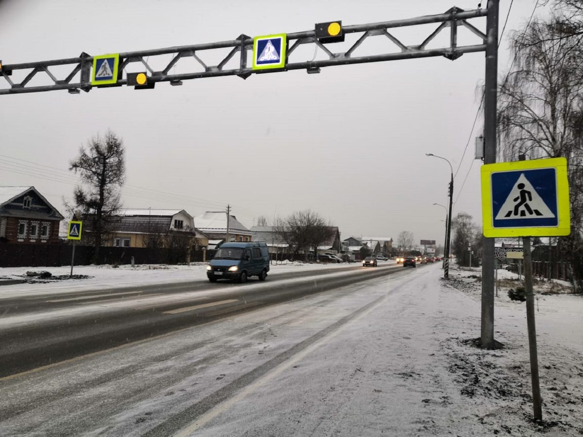 Современные пешеходные переходы обустроили навосточном подъезде кНижнему Новгороду