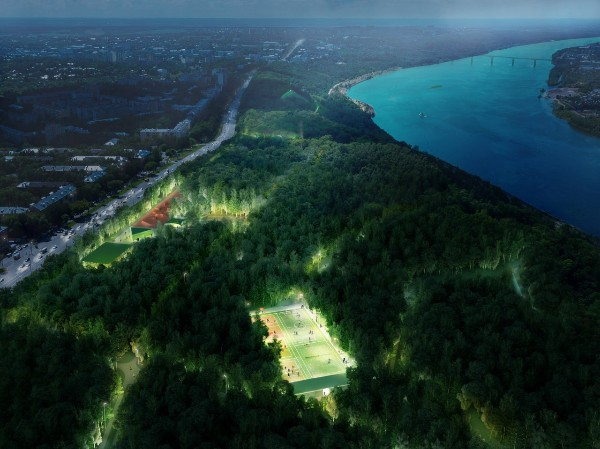 В парке Швейцария установят спортивную площадку на месте бывшего картодрома
