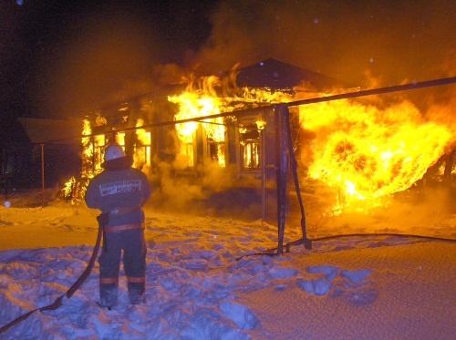 В пожаре в Лыскове погиб один человек