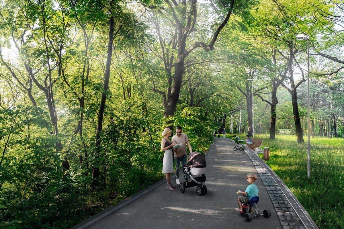 В парке «Швейцария» появятся парковые дорожки и площадки для собак
