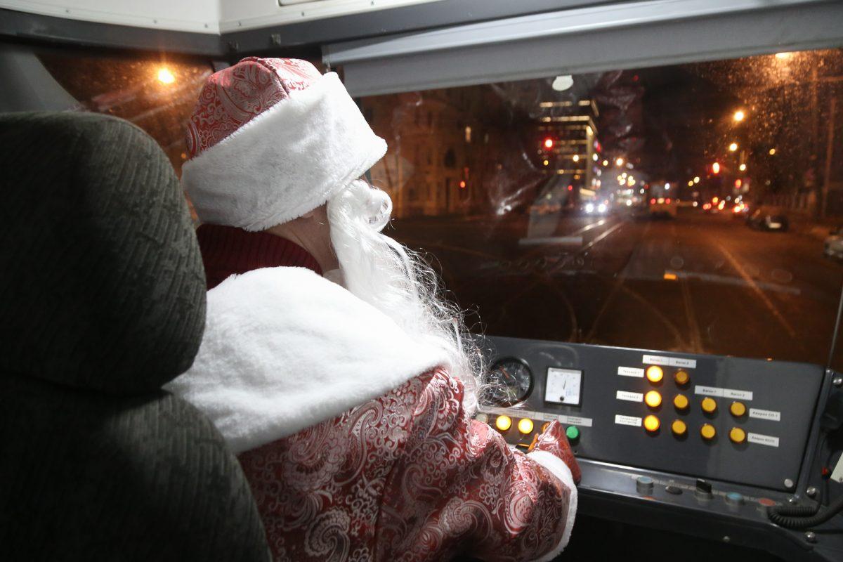 Три новогодних трамвая запустили в Нижнем Новгороде