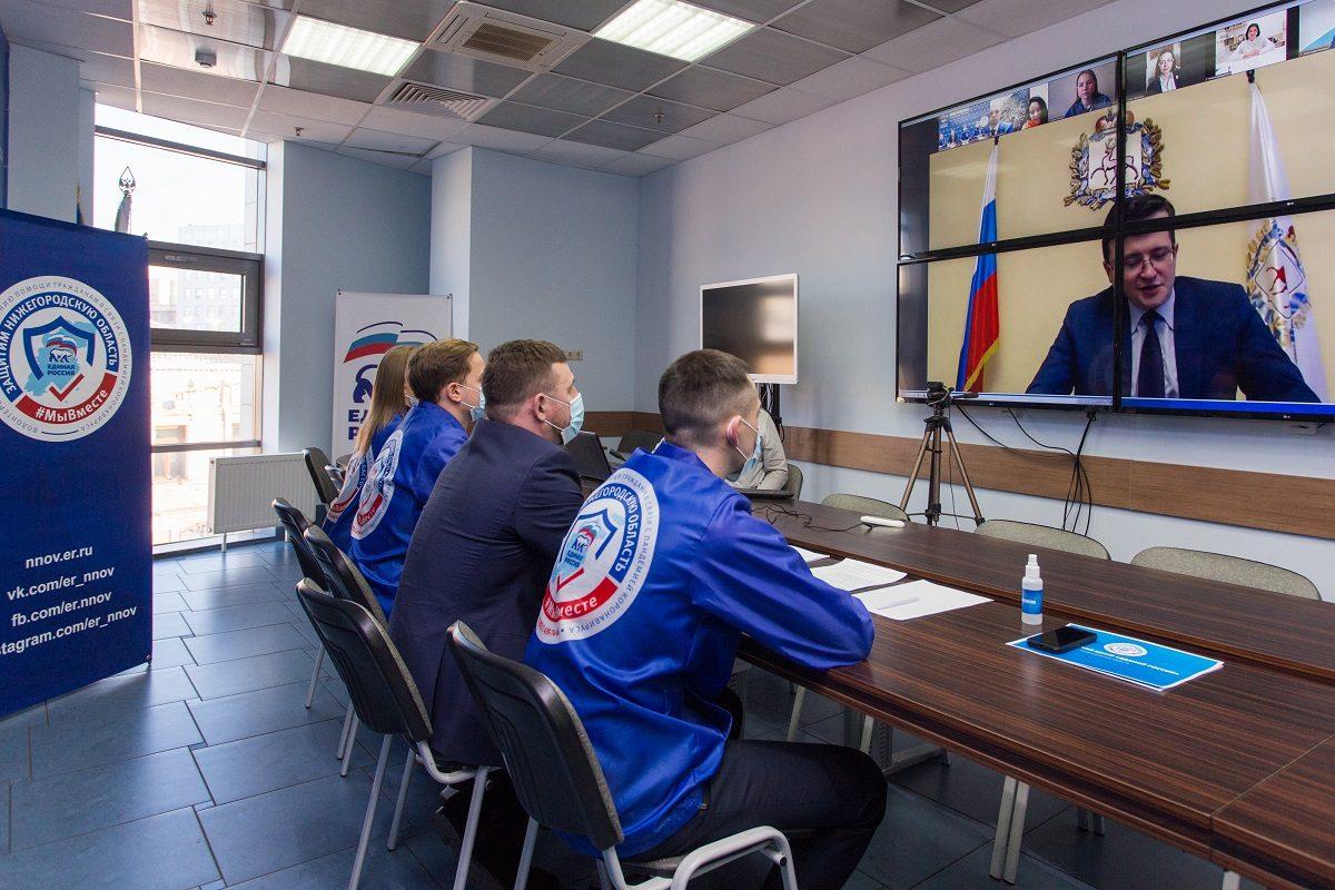 Глеб Никитин поручил разработать региональную программу мотивации волонтеров
