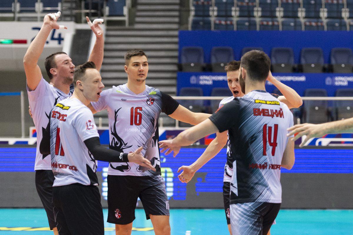 Вторую победу подряд одержали волейболисты АСК в Красноярске