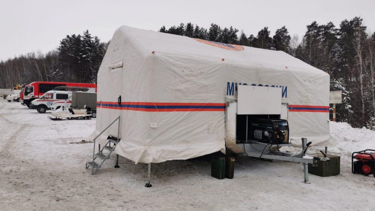 Мобильные пункты обогрева развернули на трассах в Нижегородской области
