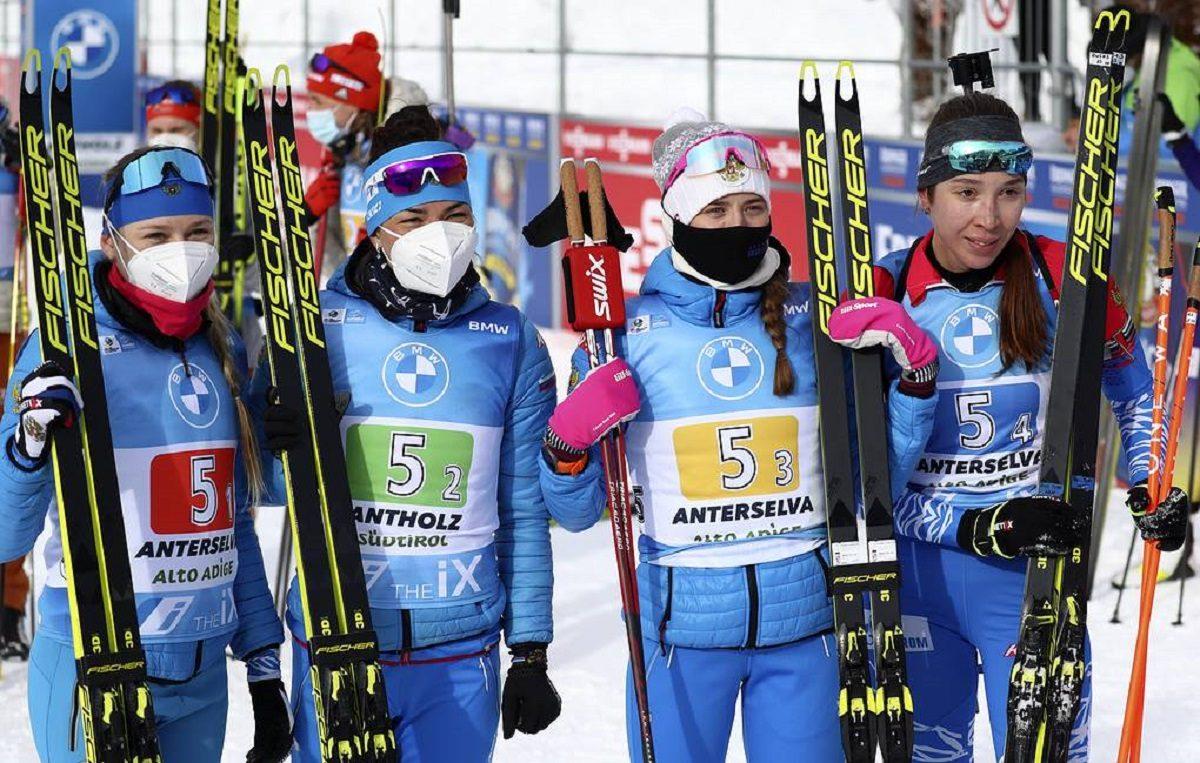 Российские биатлонистки стали лучшими на этапе Кубка мира