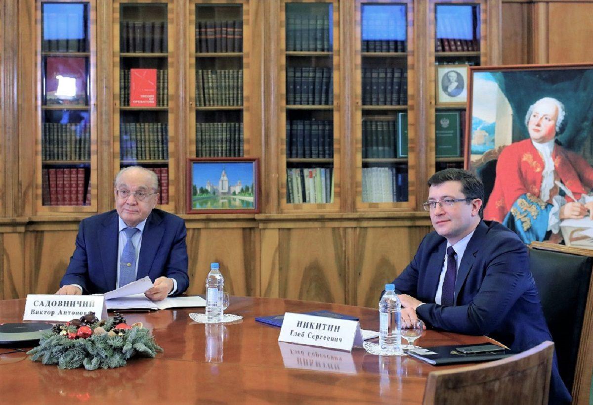 Глеб Никитин иВиктор Садовничий подписали меморандум осоздании консорциума «Вернадский— Нижегородская область»