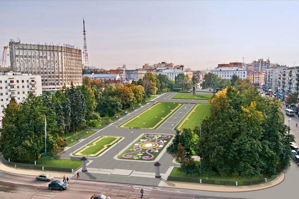 Освещение обновили в сквере на площади Горького в Нижнем Новгороде