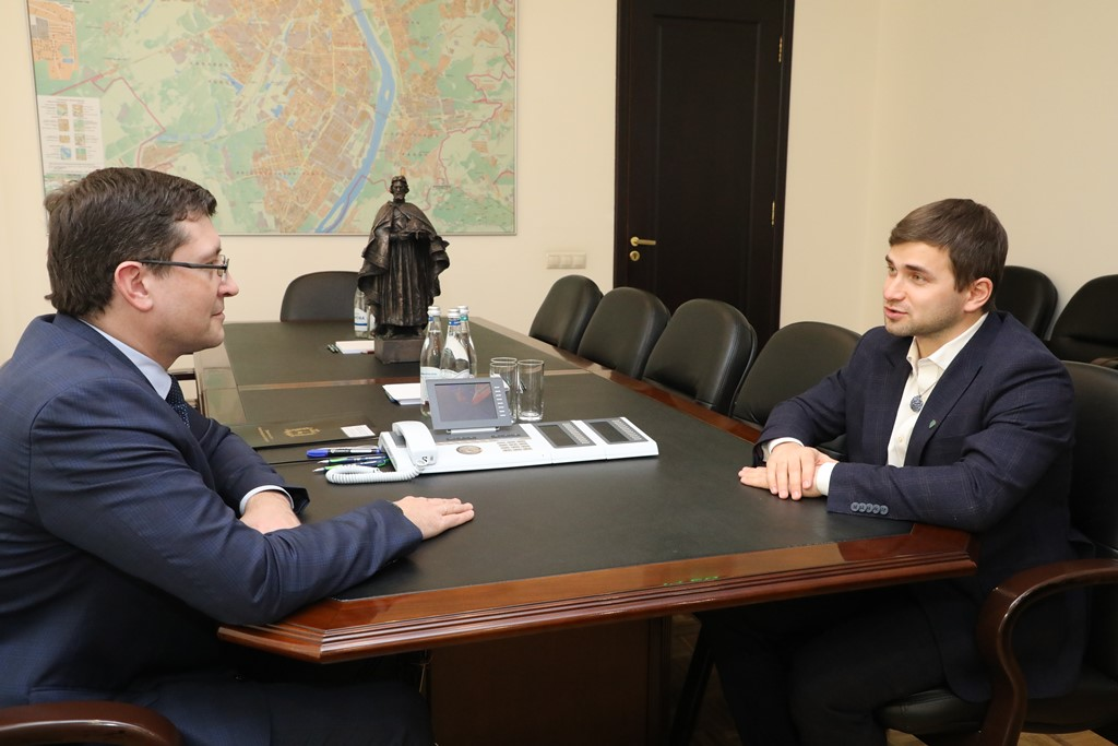 Глеб Никитин провел рабочую встречу спобедителем конкурса «Лидеры России-2020» Ильей Степановым