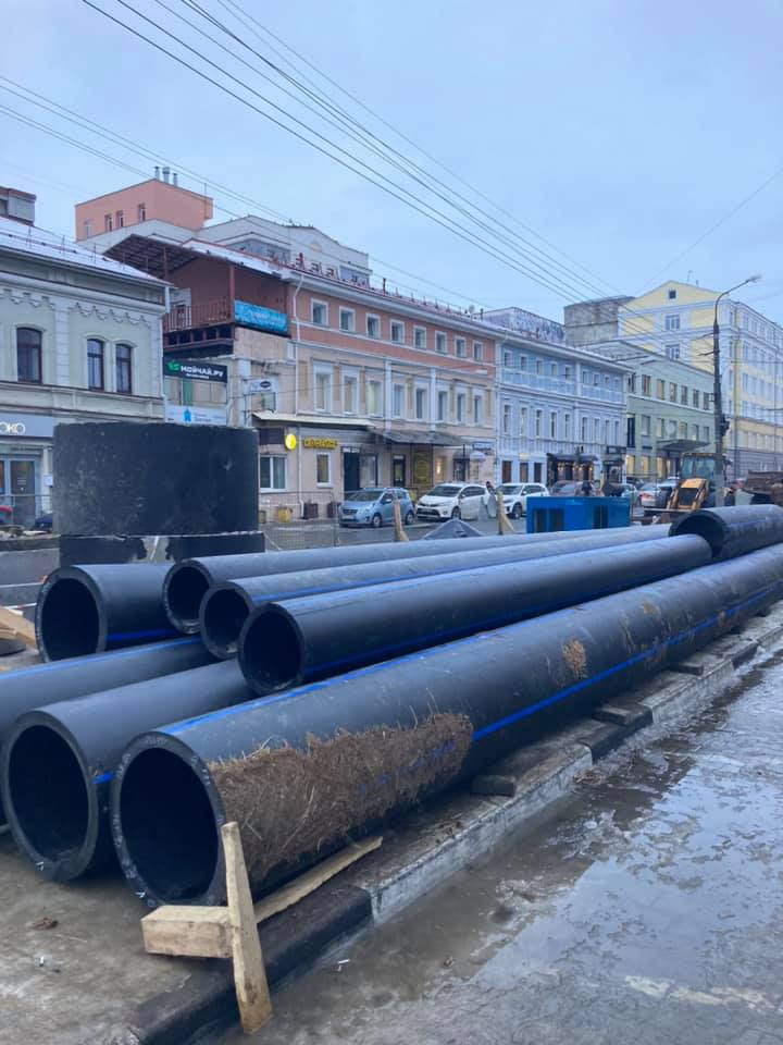 Новую ливневку проложат на улице Алексеевской в Нижнем Новгороде