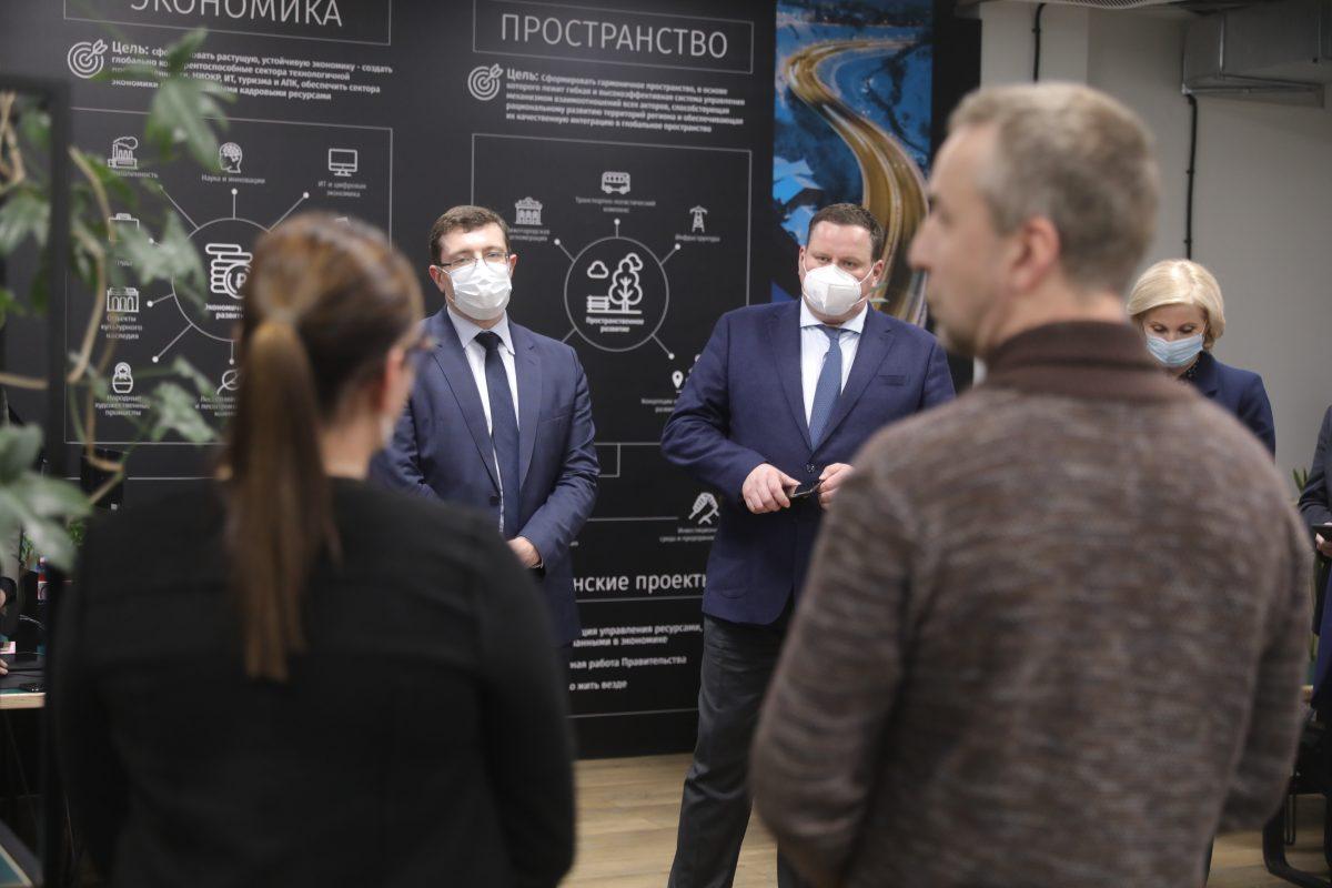 Антон Котяков иГлеб Никитин провели рабочую встречу