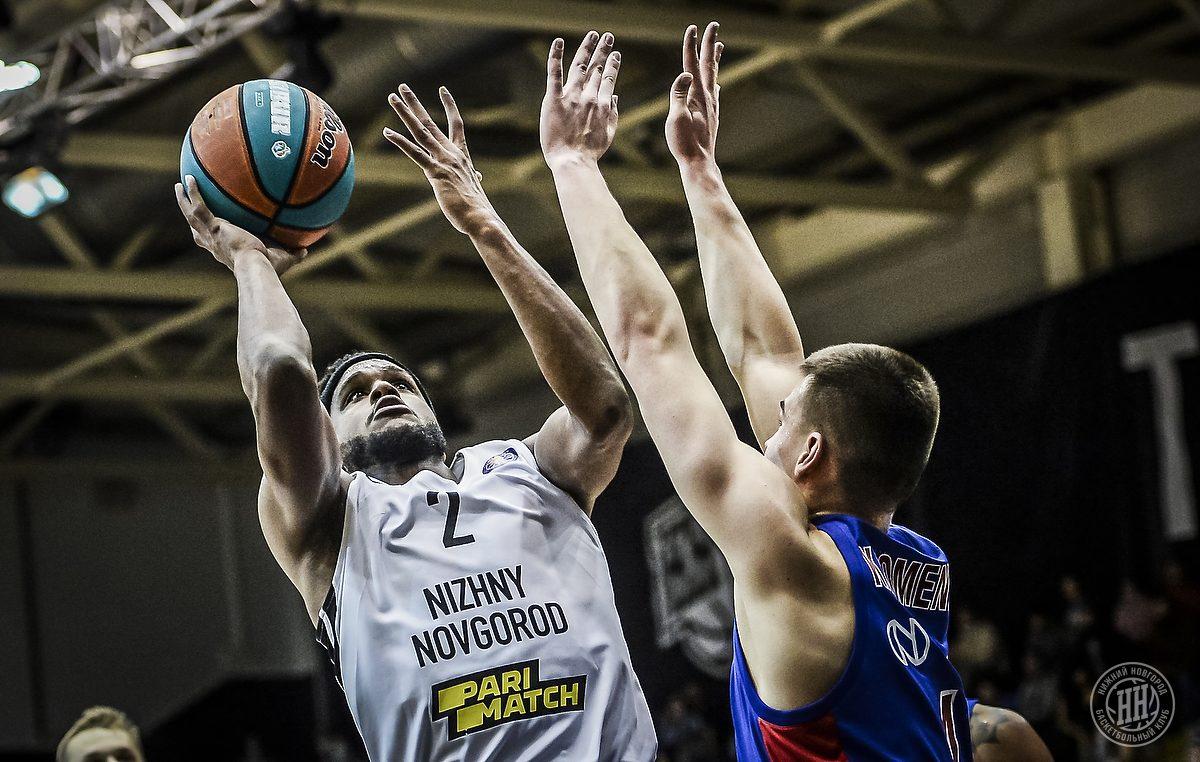 Баскетболисты «Нижнего Новгорода» проиграли ЦСКА