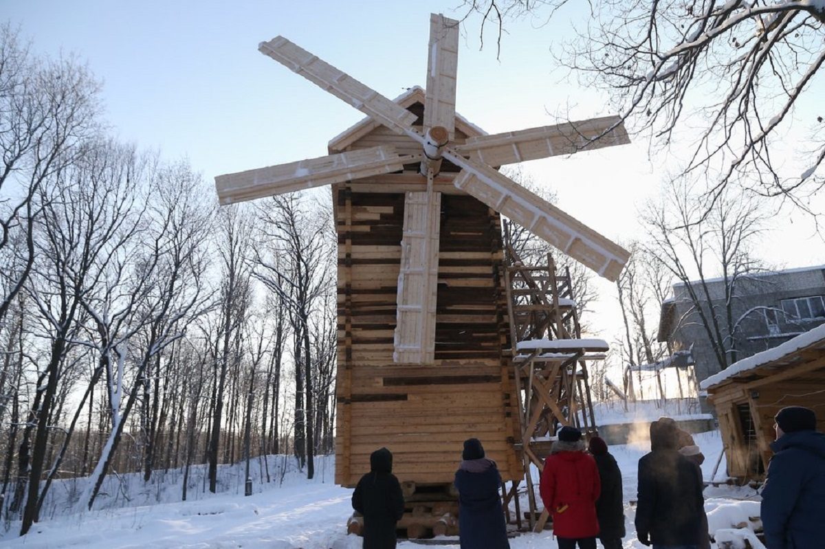 Уникальную мельницу отреставрировали наЩёлоковском хуторе