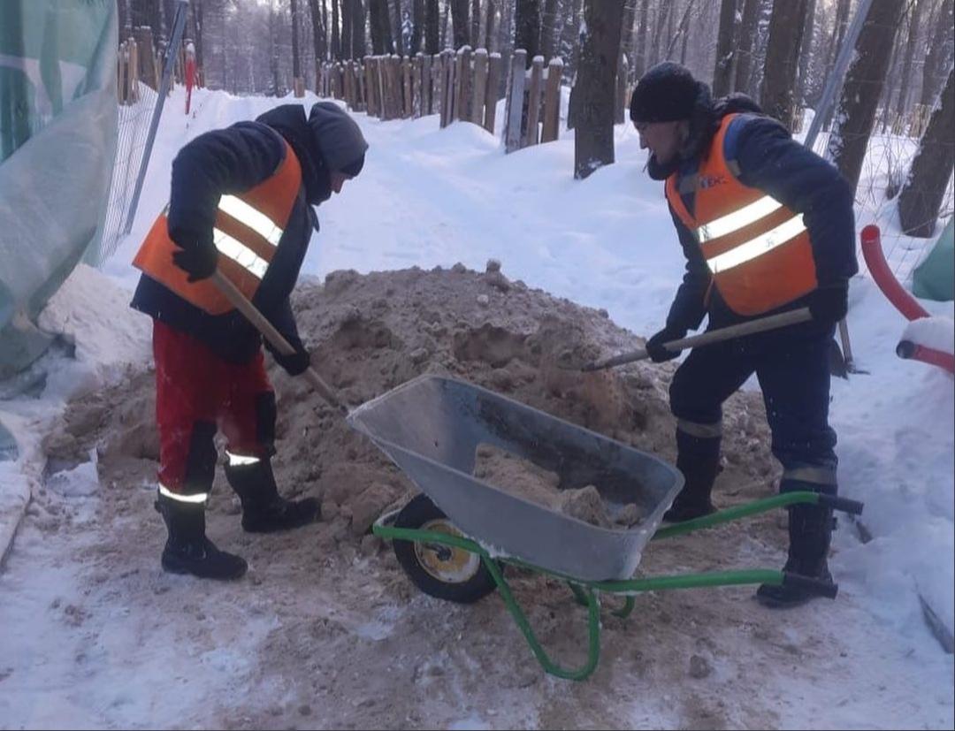 Работы по благоустройству нижегородской Швейцарии приостановят из-за морозов