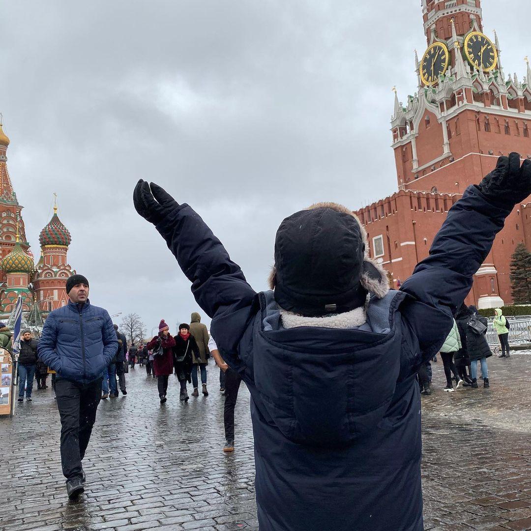 Наталья Водянова встретила Новый год в России