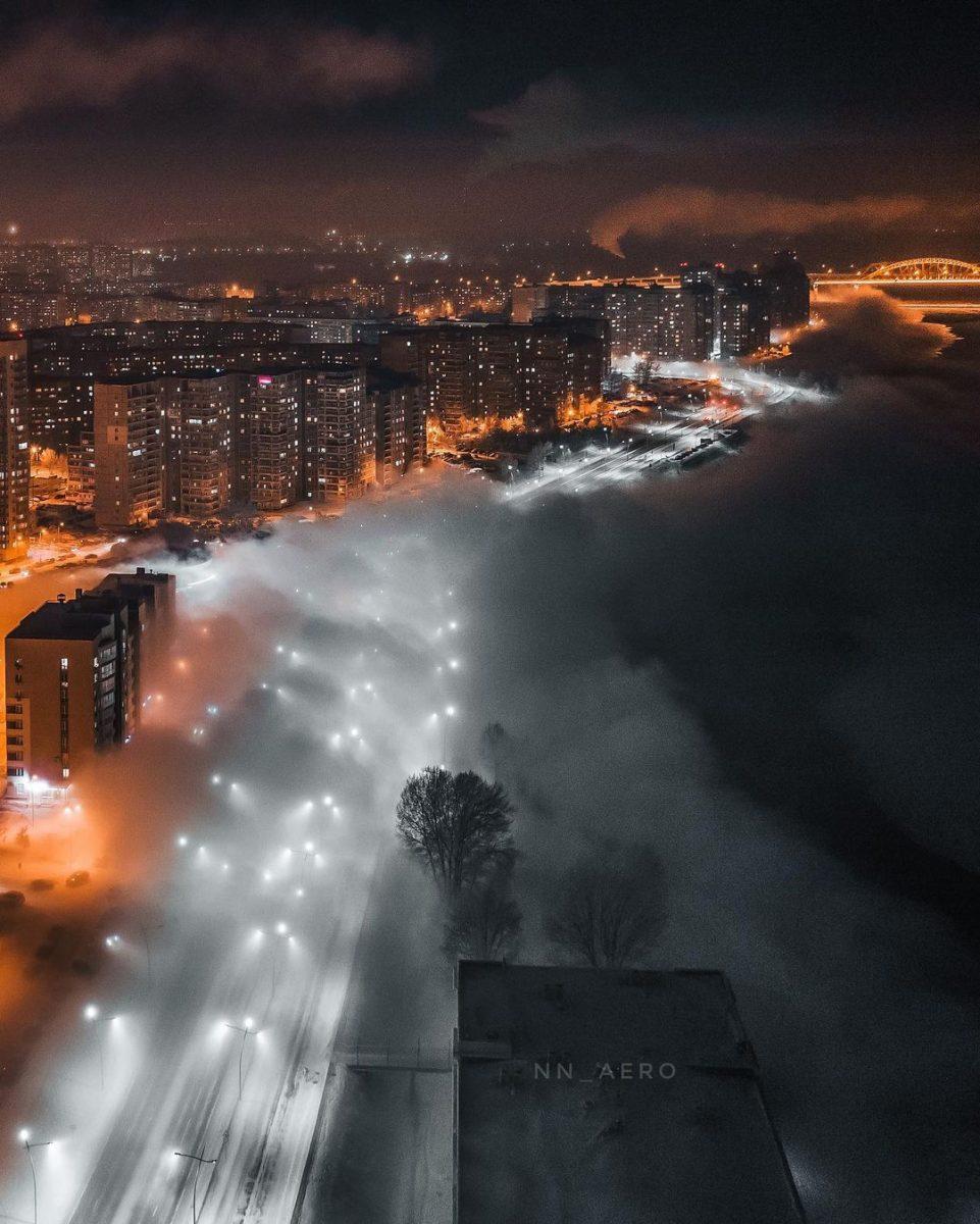 «До дома добирались все на ощупь»: накануне Крещения Мещеру накрыл туман