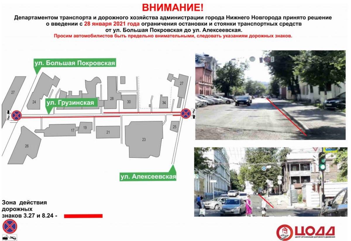 улица грузинская парковка