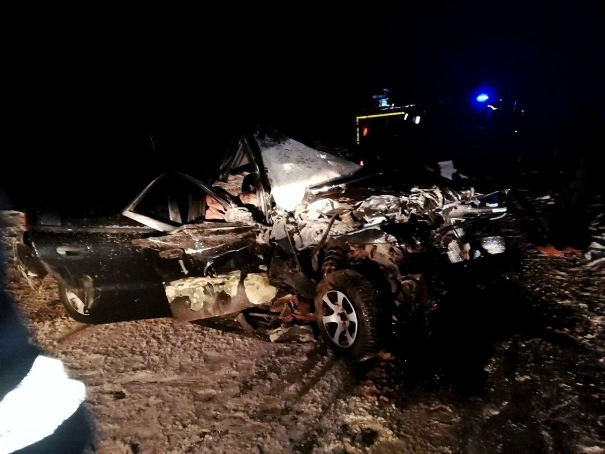 Водитель и пассажир погибли в лобовом ДТП в Вознесенском районе