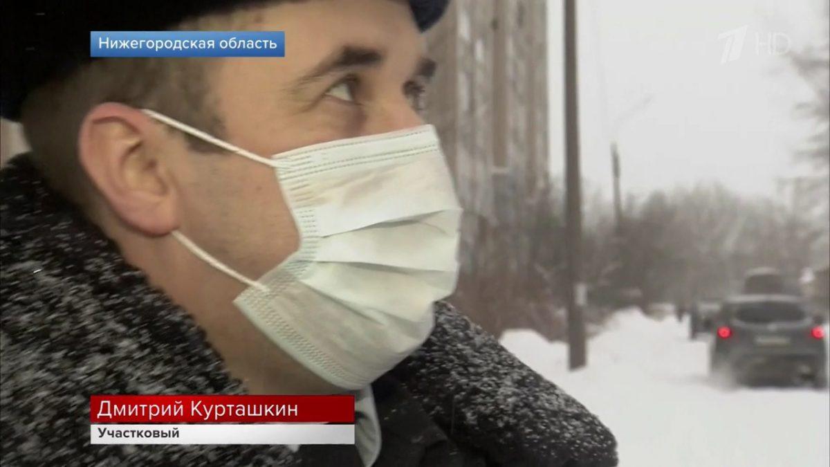 Полицейский из Арзамаса, спасший 30 людей на пожаре, попал на Первый канал