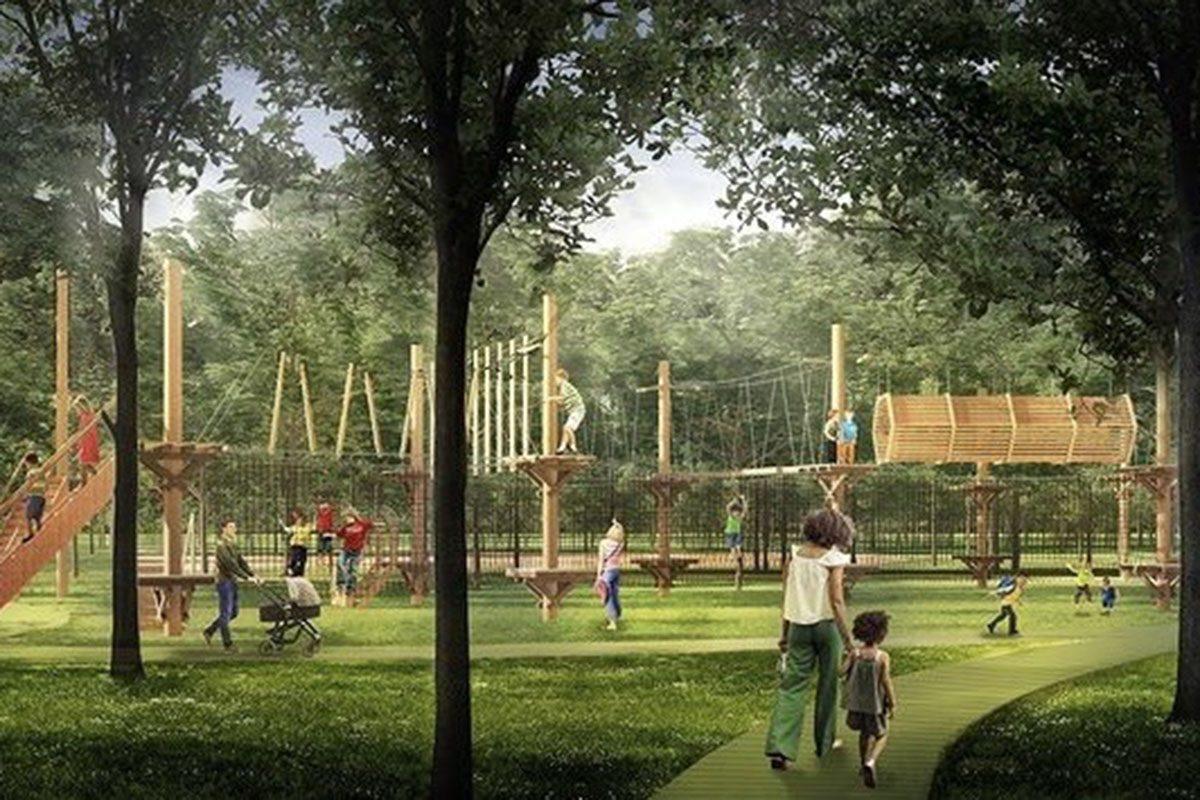 В парке Швейцария появится верёвочный городок