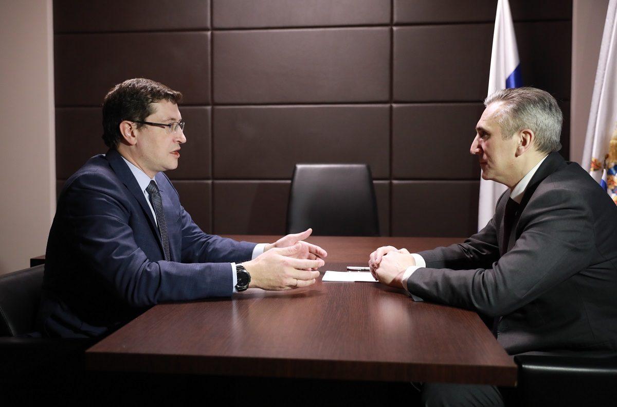 Глеб Никитин провел рабочую встречу сгубернатором Тюменской области Александром Моором