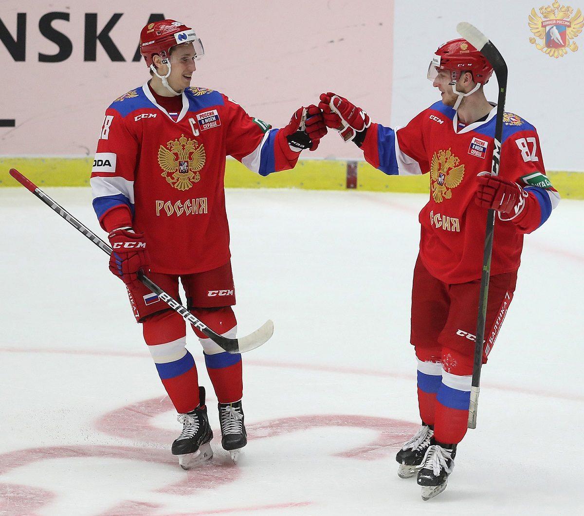 Двое торпедовцев помогли сборной России обыграть финских хоккеистов