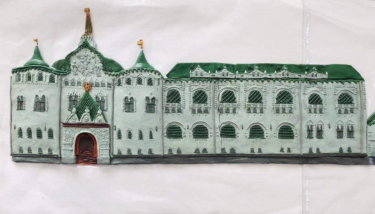 Здание госбанка пластилиновый нижний