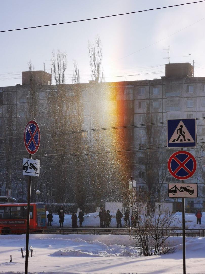 Нижегородцы наблюдали утреннее гало в Щербинках