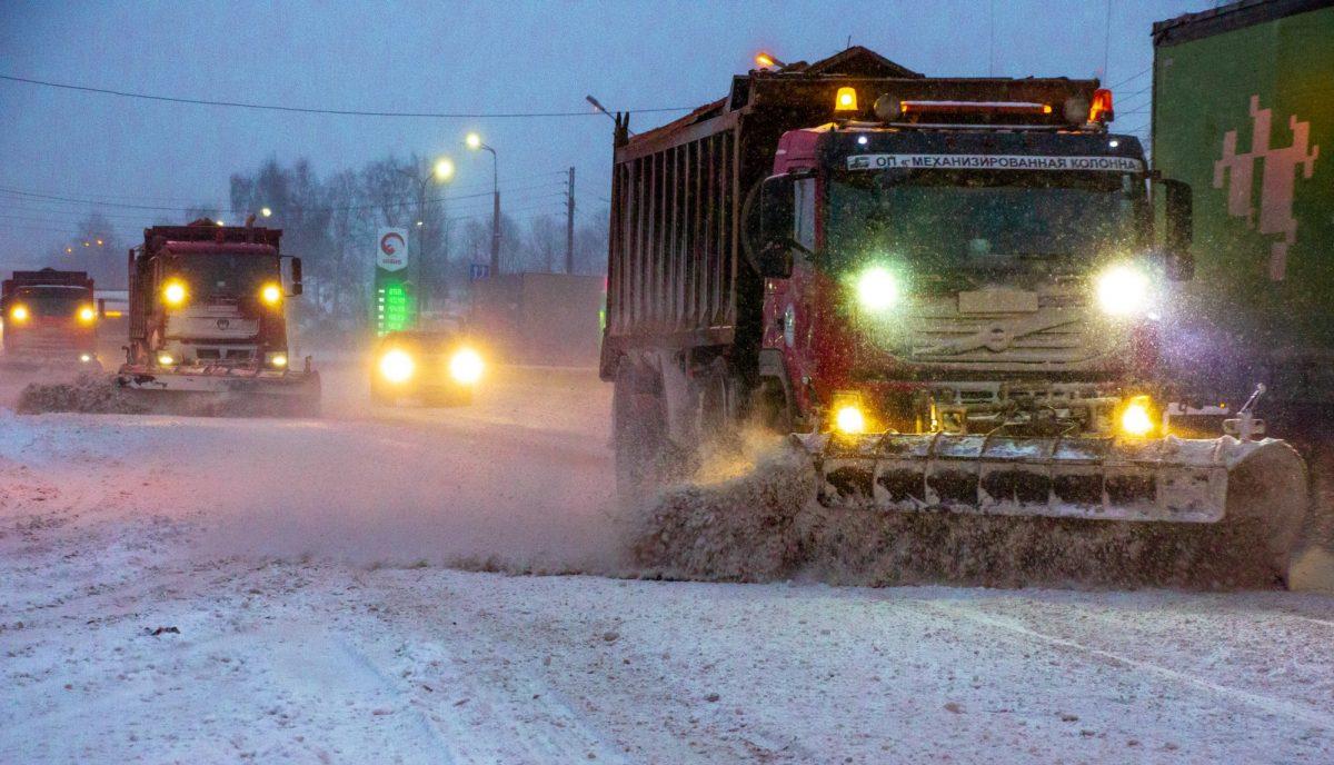 Движение транспорта затруднено на трассе М-7 в Лысковском районе из-за непогоды