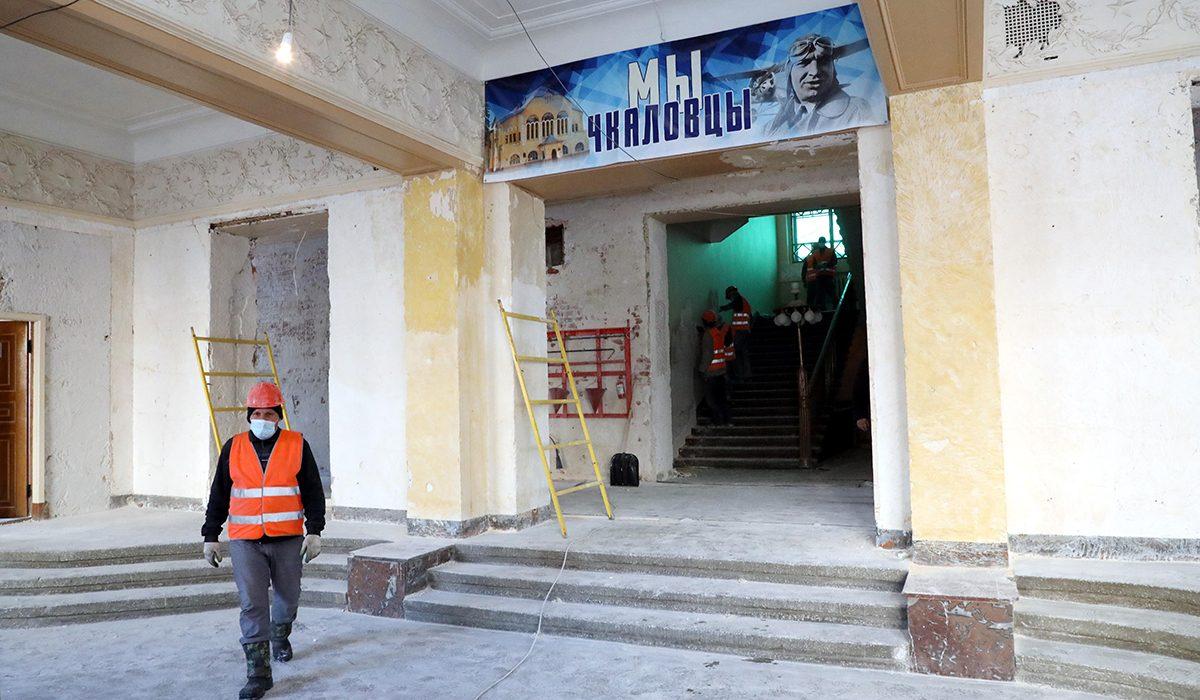 Водворце детского творчества им.Чкалова в Нижнем Новгороде началась комплексная реставрация