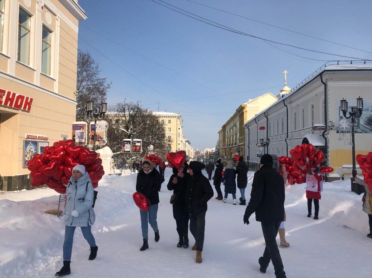 шары день святого валентина большая покровская