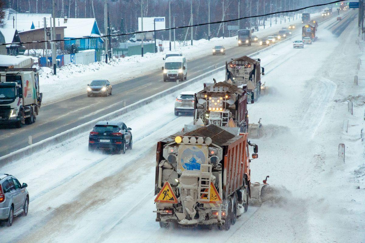 Дорожные службы на федеральных трассах работают в усиленном режиме
