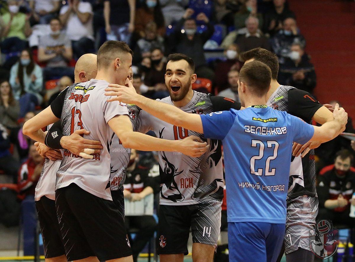 Волейболисты нижегородского клуба АСК сравняли счёт серии в противостоянии с «Факелом» из Нового Уренгоя