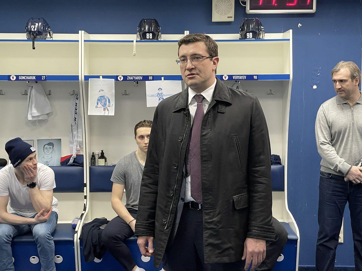 Глеб Никитин встретился сигроками ируководствомХК «Торпедо»