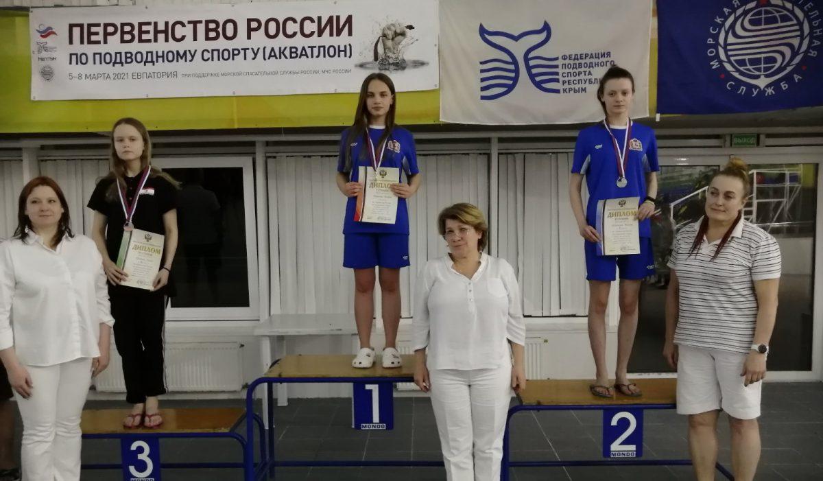 Нижегородские спортсменки завоевали золото и серебро на Первенстве России по подводному спорту