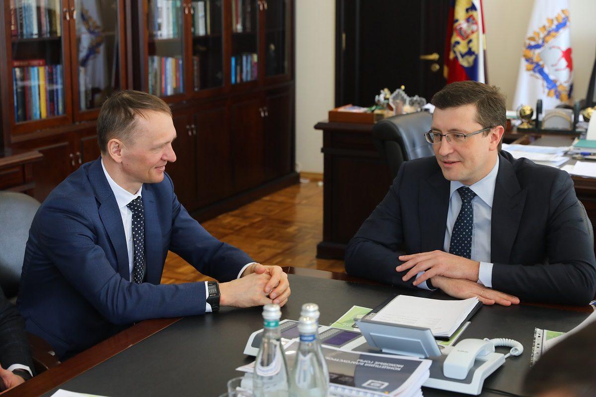 Глеб Никитин обсудил спрезидентом корпорации «Технониколь» Сергеем Колесниковым планы посозданию биатлонного комплекса врегионе