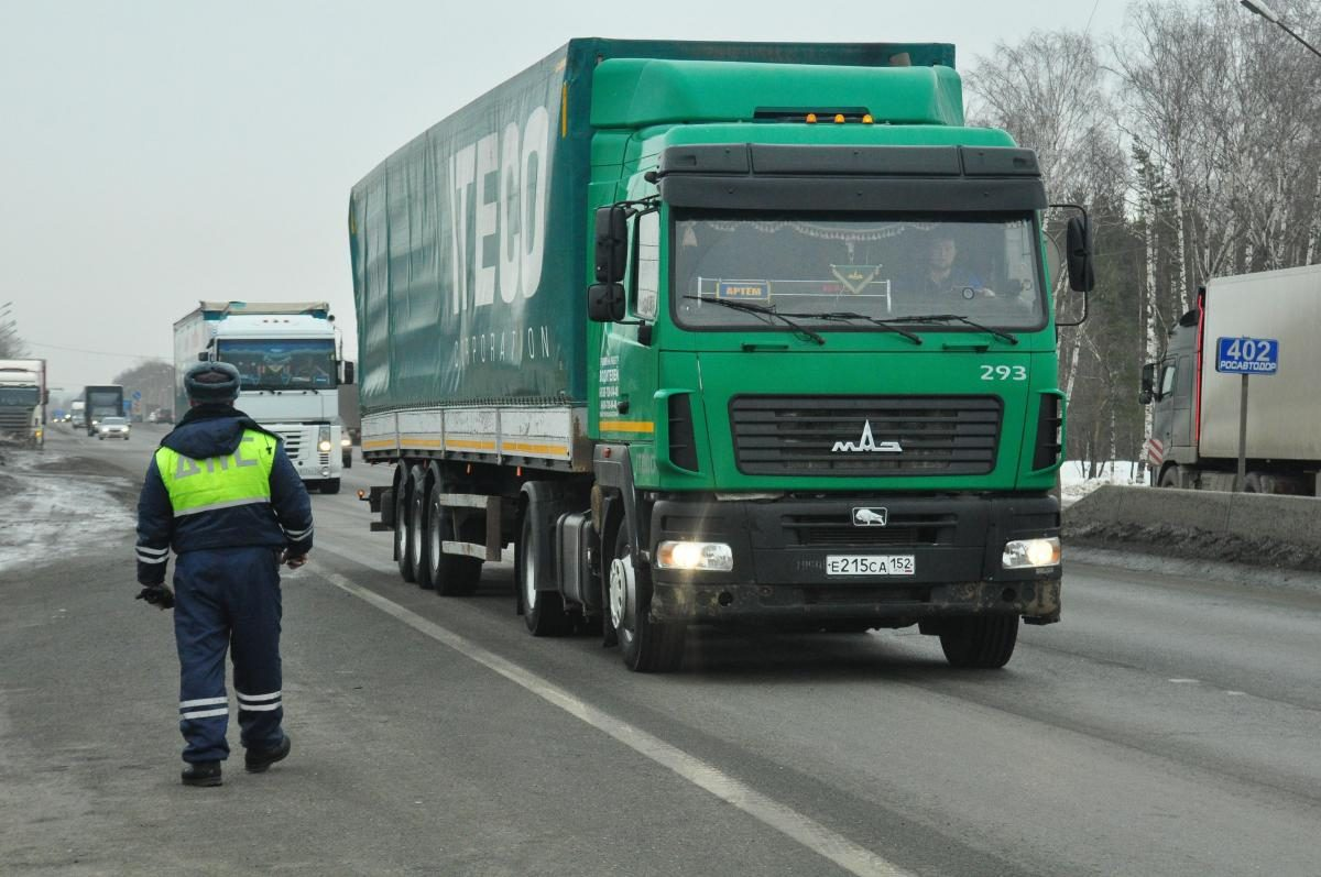 Ограничения надвижение большегрузов подорогам Нижегородской области вступят всилу 1апреля