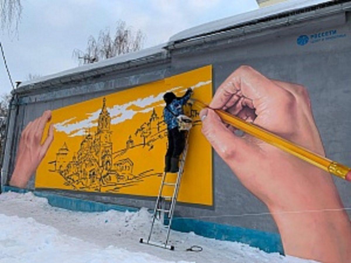 Первое граффити к 800-летию Нижнего Новгорода появилось на подстанции Нижновэнерго