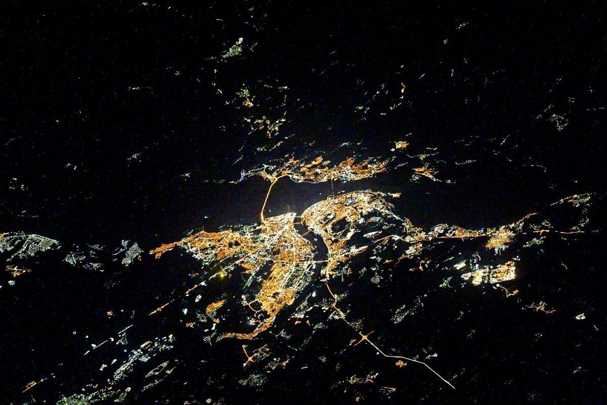 Космонавт с борта МКС сделал снимок ночного Нижнего Новгорода