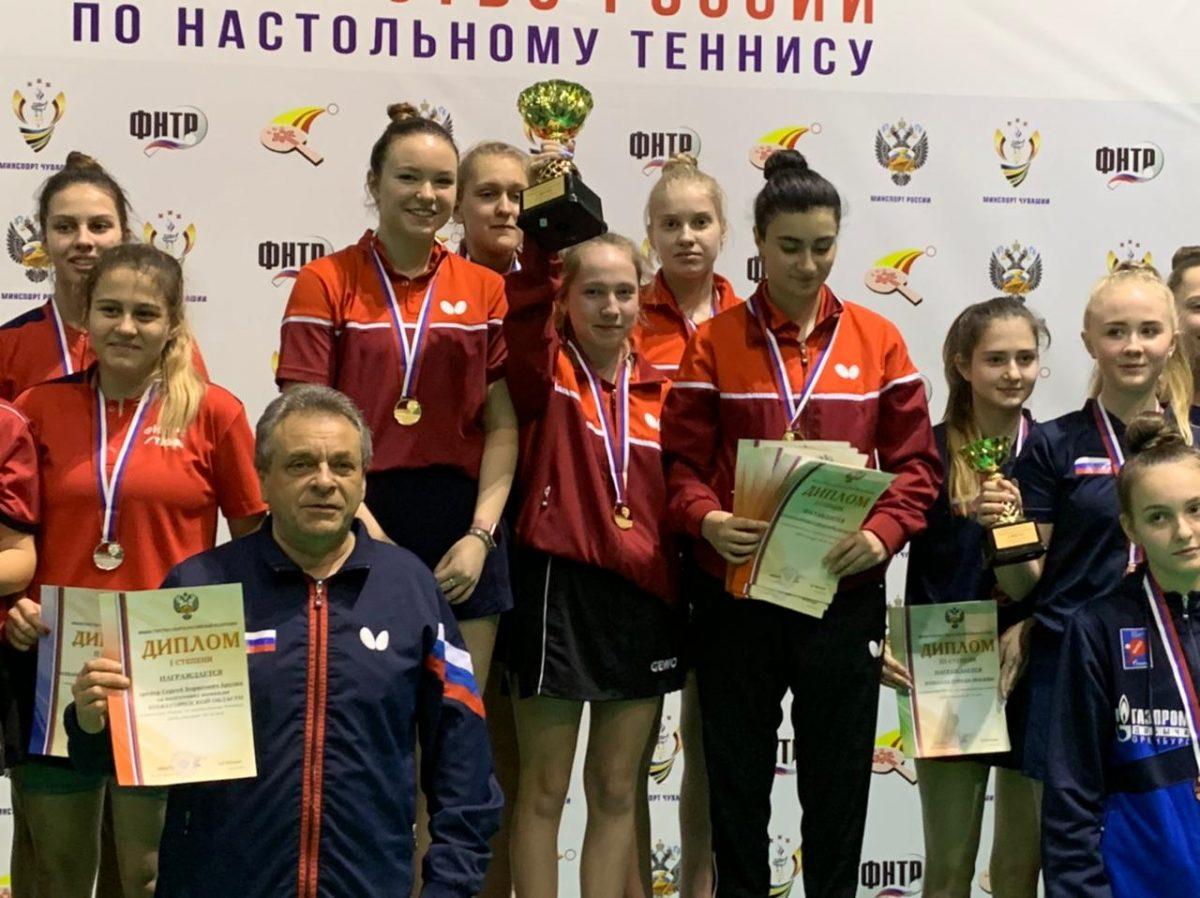 Юные теннисистки из Нижегородской области победили в командных соревнованиях на Первенстве России