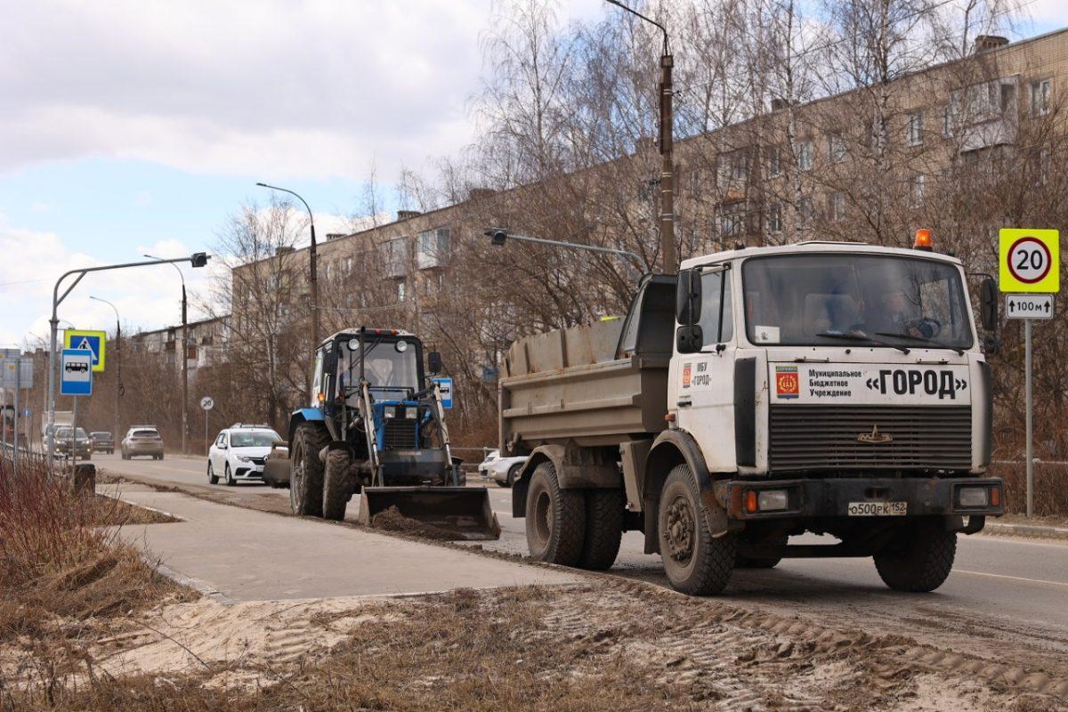 Коммунальные службы Дзержинска приступили к уборке города после зимы