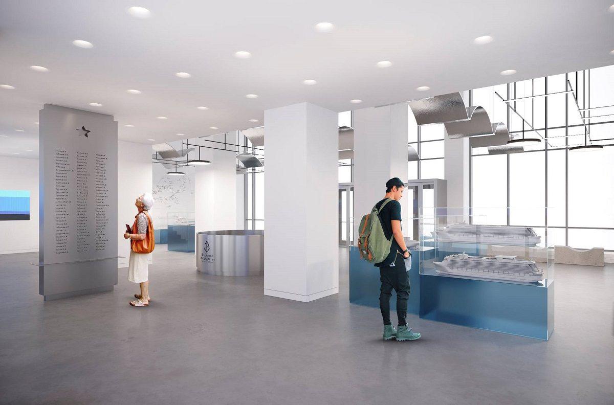 В здании Речного вокзала откроется музей: смотрим, как изменится помещение внутри