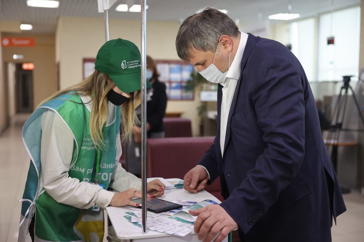 Глава Дзержинска принял участие в рейтинговом голосовании