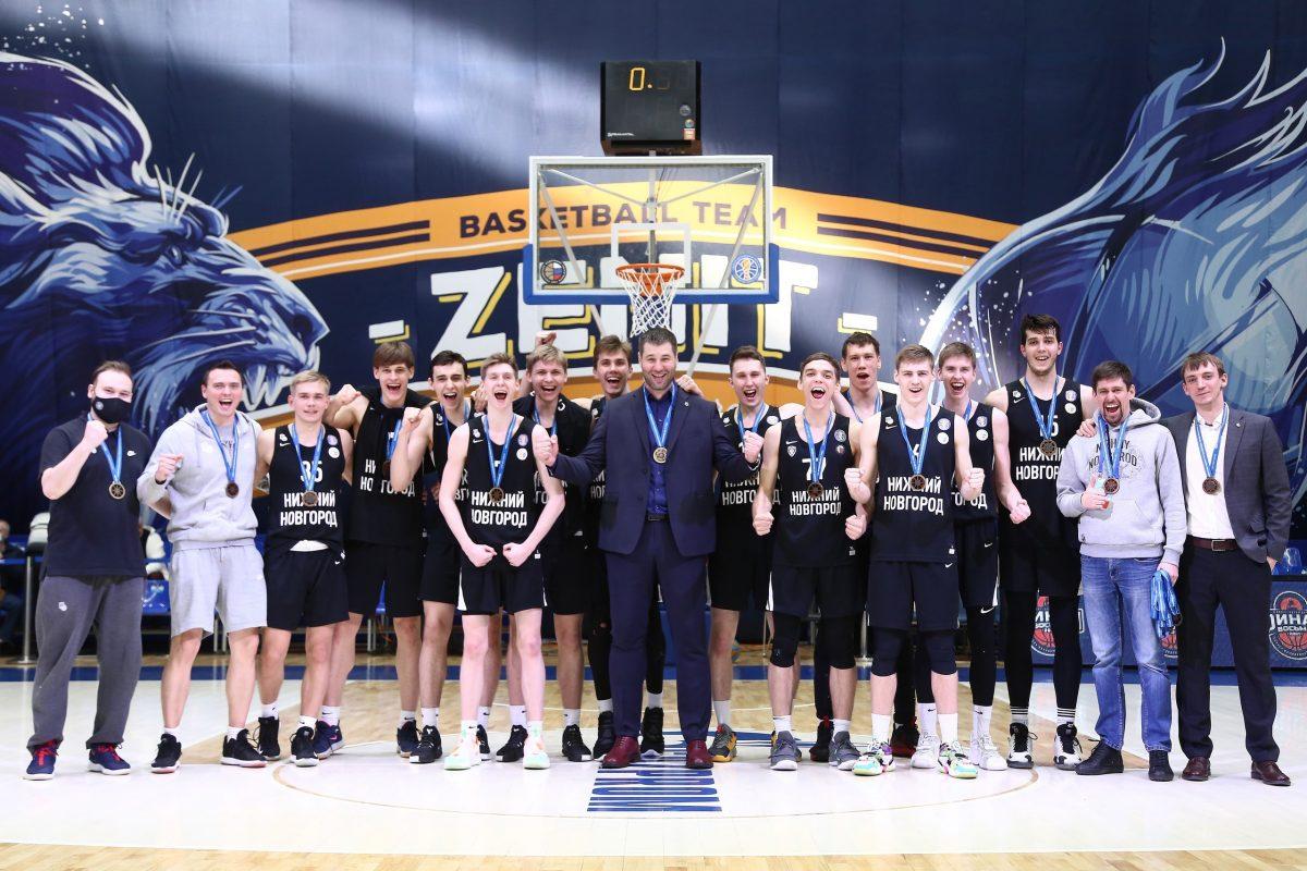 Дублёры баскетбольного клуба «Нижний Новгород» впервые стали бронзовыми призёрами Единой молодёжной лиги ВТБ
