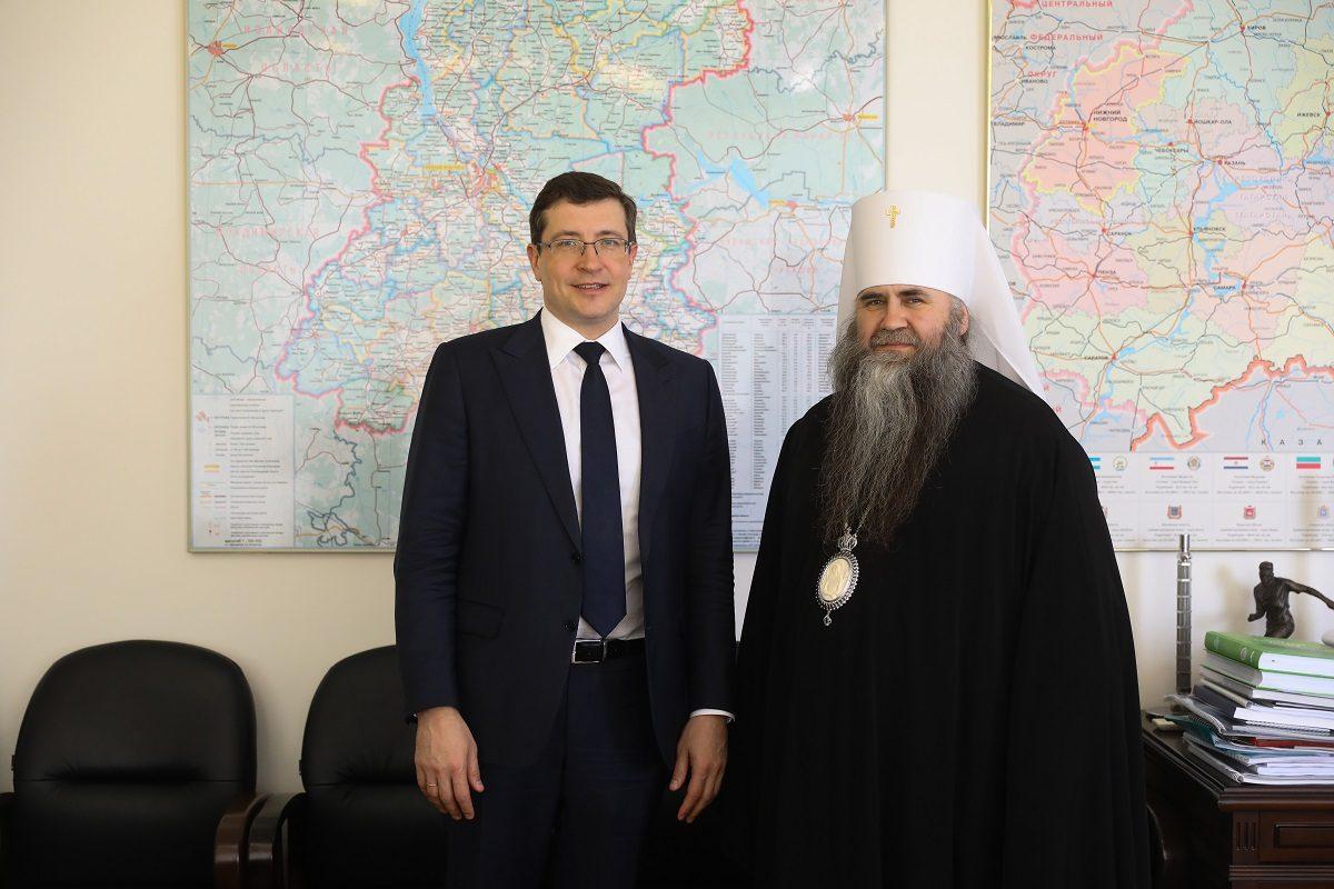 Глеб Никитин имитрополит Нижегородский иАрзамасский Георгий обсудили подготовку кпразднованию 800-летия Нижнего Новгорода