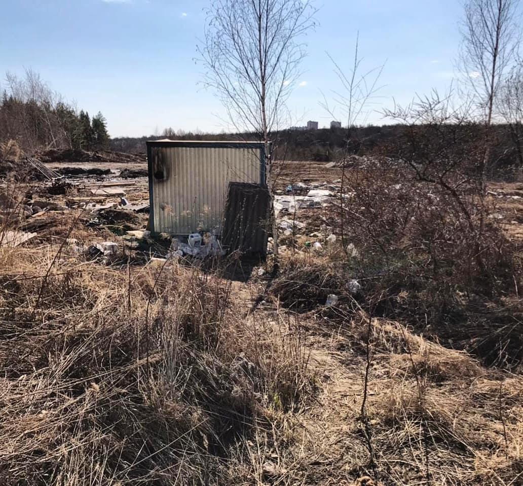 Несанкционированную свалку в Анкудиновском парке ликвидируют