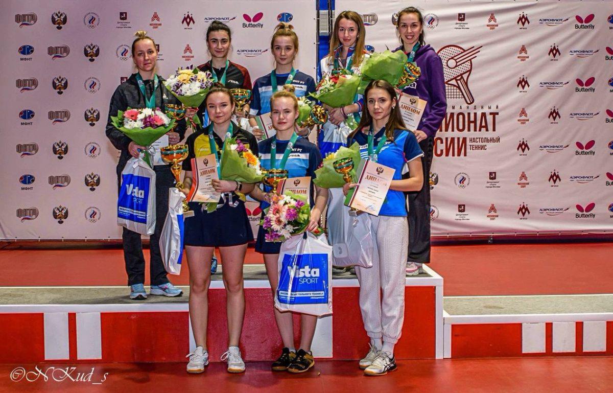НижегородкаЛюбовьТэнцерстала чемпионкой России по настольному теннису в парном разряде
