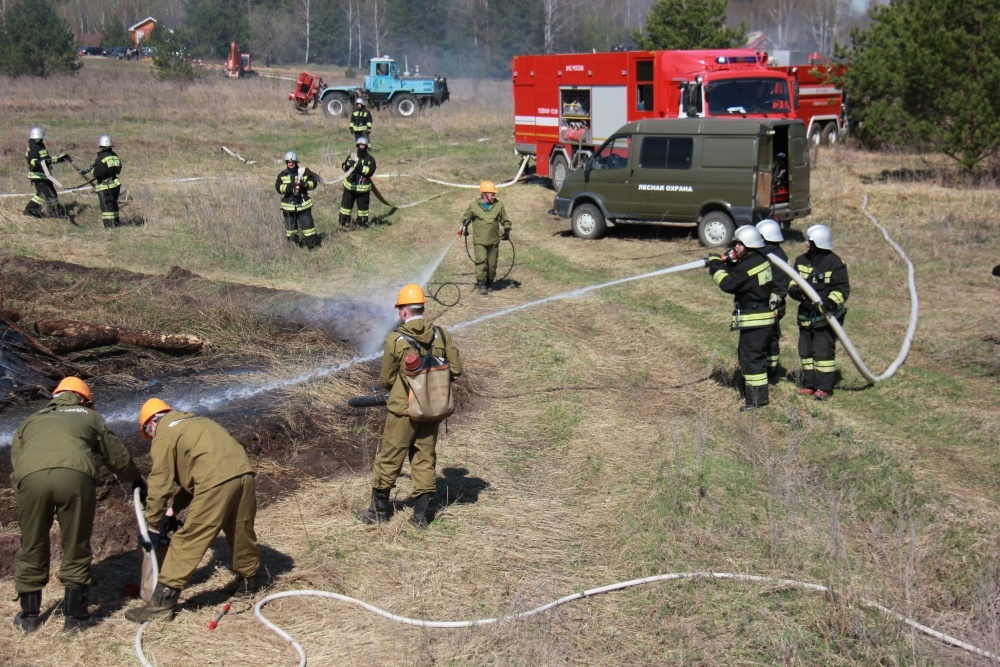 Сухая растительность горит вНижегородской области