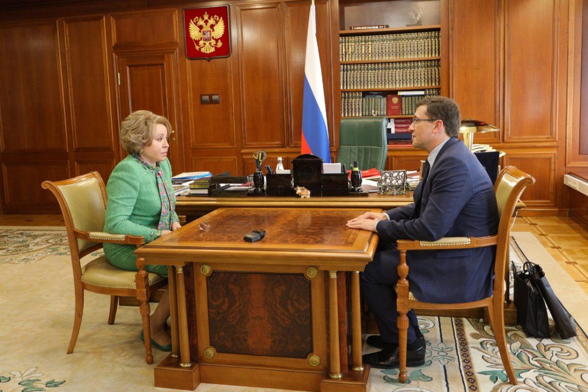 Глеб Никитин представил Валентине Матвиенко проекты социально-экономического развития Нижегородской области