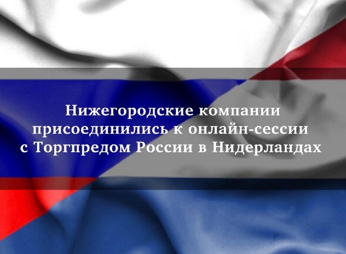 Нижегородские компании присоединились кЧасу сторгпредомРФ вКоролевстве Нидерландов