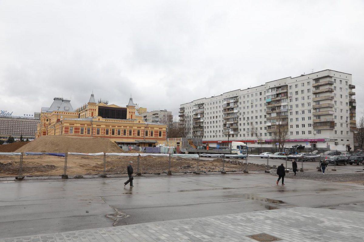 Дополнительные зоны создадут вокруг нового павильона Нижегородской ярмарки: благоустройство завершится всередине июля